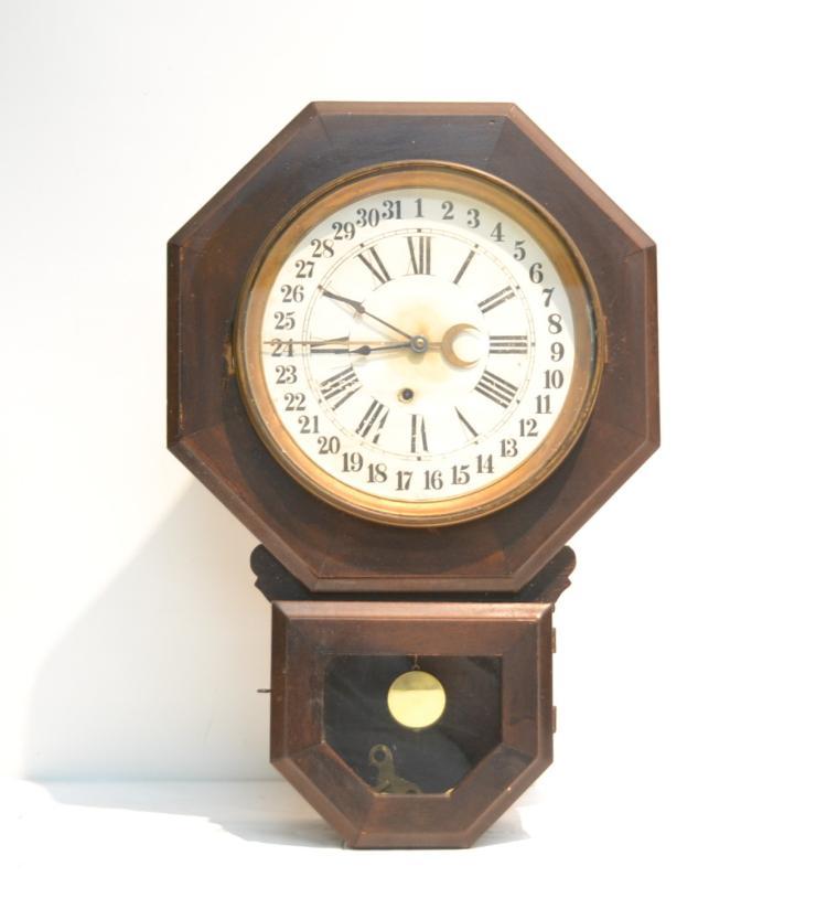 OCTAGONAL AMERICAN CALENDAR CLOCK - 15