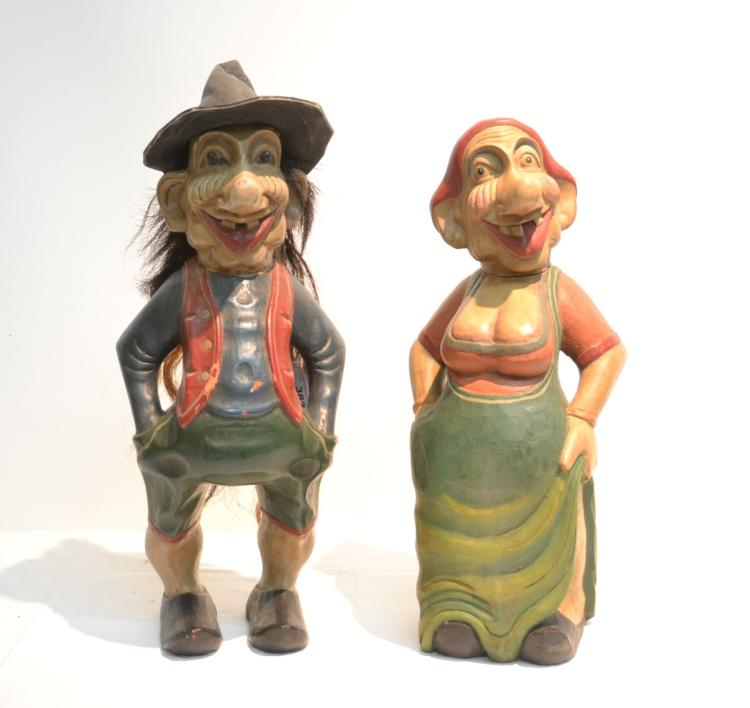 (Pr) CARVED WOOD GNOMES - 11
