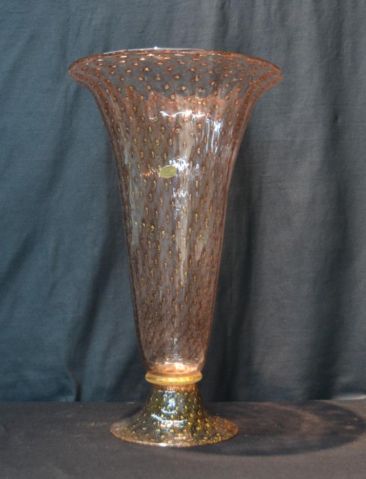 LARGE VENETIAN MURANO GLASS VASE WITH