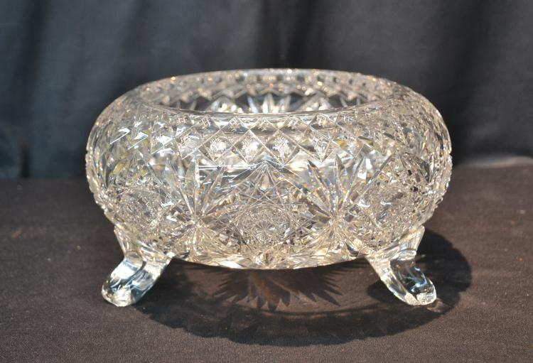 HAWKES CUT GLASS FERNERY BOWL