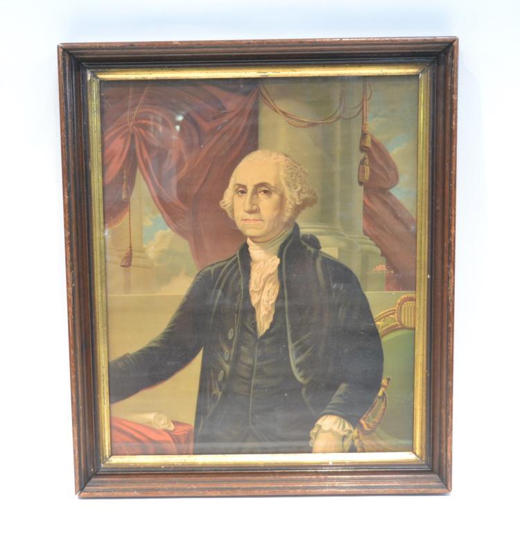 GEORGE WASHINGTON CHROMOLITH BY A.WEIDENBACH