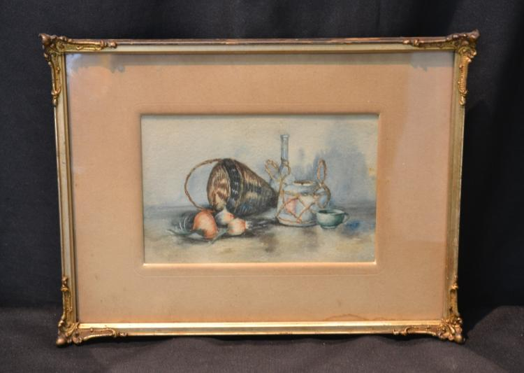 FRAMED WATERCOLOR STILL LIFE