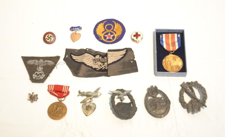 ASSORTED GERMAN & US MEDALS