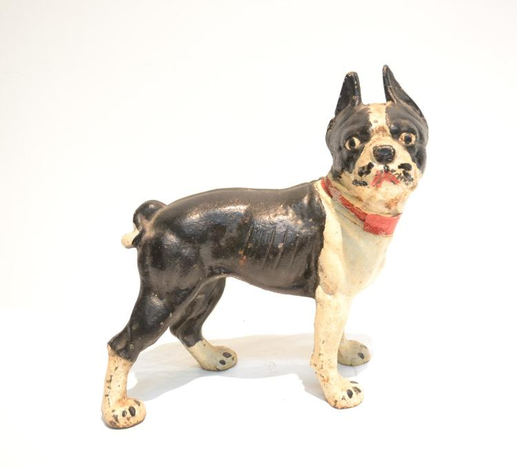 CAST IRON BULL DOG DOOR STOP - 9