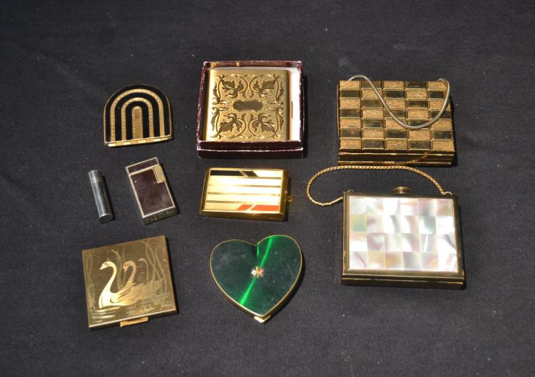 ASSORTED VINTAGE COMPACTS & LIGHTERS