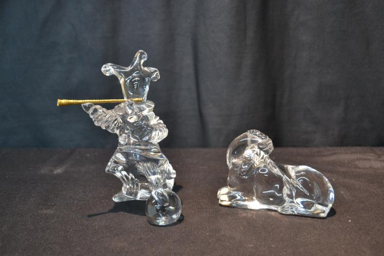 BACCARAT CRYSTAL CLOWN & HORSE