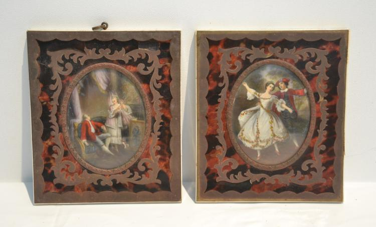 (Pr) HAND PAINTED MINIATURES WITH ROMANTIC SCENES