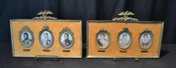 (Pr) NAPOLEONIC FRAMED MINIATURES DEPICTING