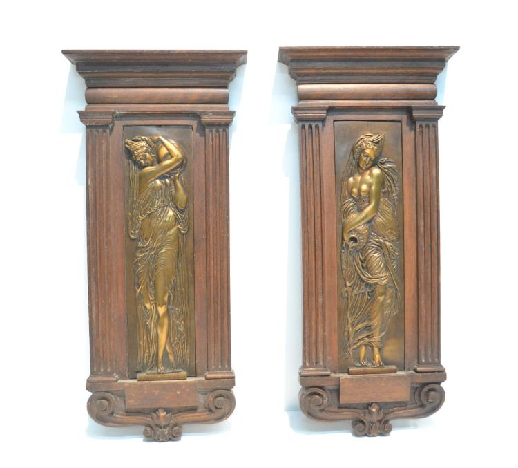 (Pr) BARBEDIENNE BRONZE PLAQUES OF NEO CLASSICAL