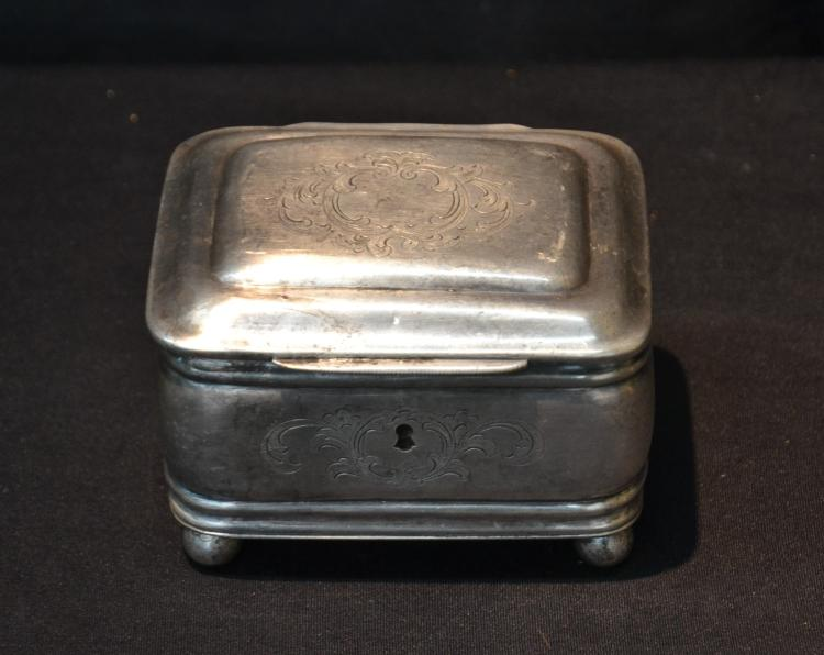 PAVEL SAZIKOV , 84 RUSSIAN SILVER HINGED BOX