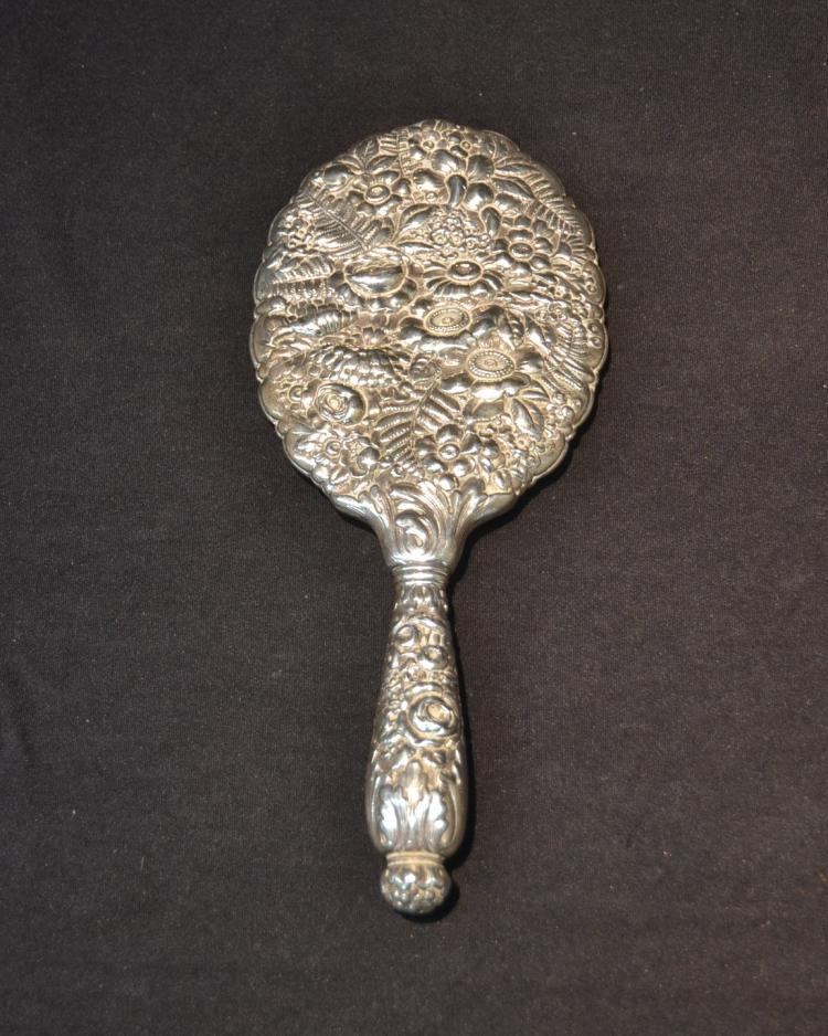 TIFFANY STERLING REPOUSSE HAND MIRROR