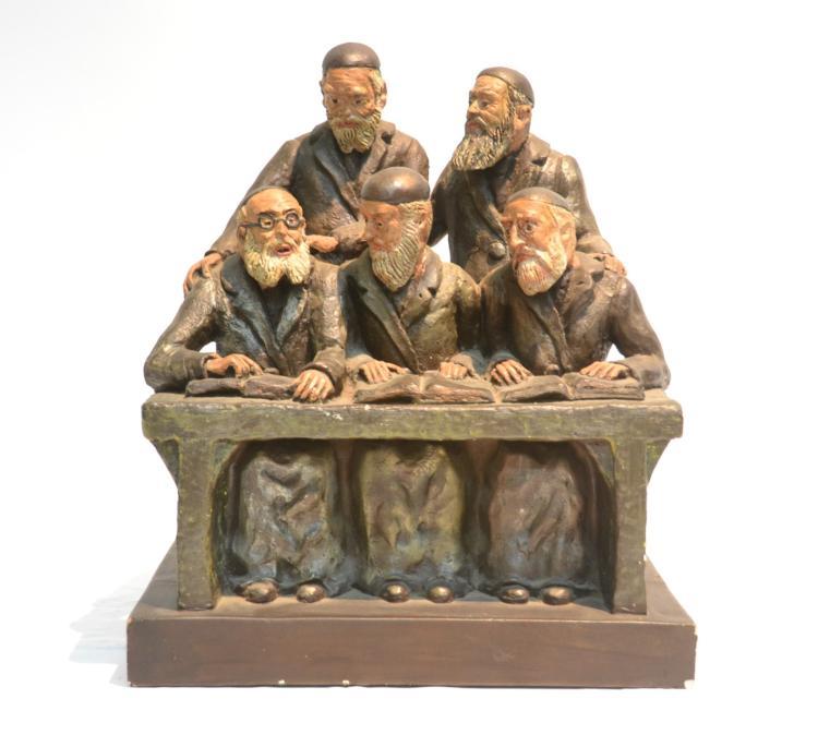 JUDAICA PLASTER GROUPING OF (5) RABBIS