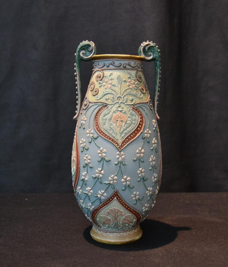 NIPPON MORIAGE TWIN HANDLE VASE - 4