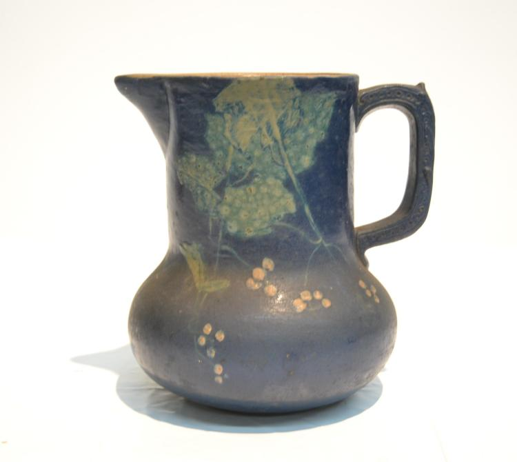 CROCK PITCHER WITH FLOWERS & BRANCHES
