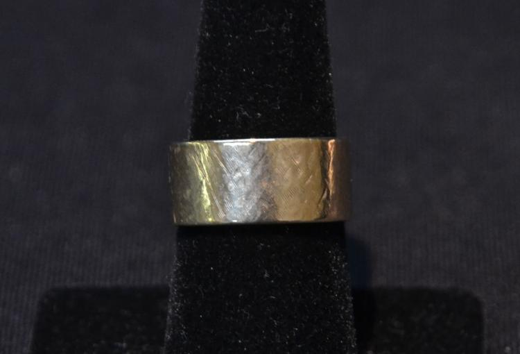 WIDE14kt GOLD BAND - SIZE 8 ; 7.3dwt
