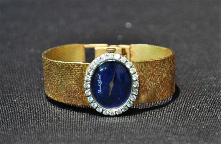 18kt BOUCHE GIRARD WATCH WITH (24) DIAMONDS &