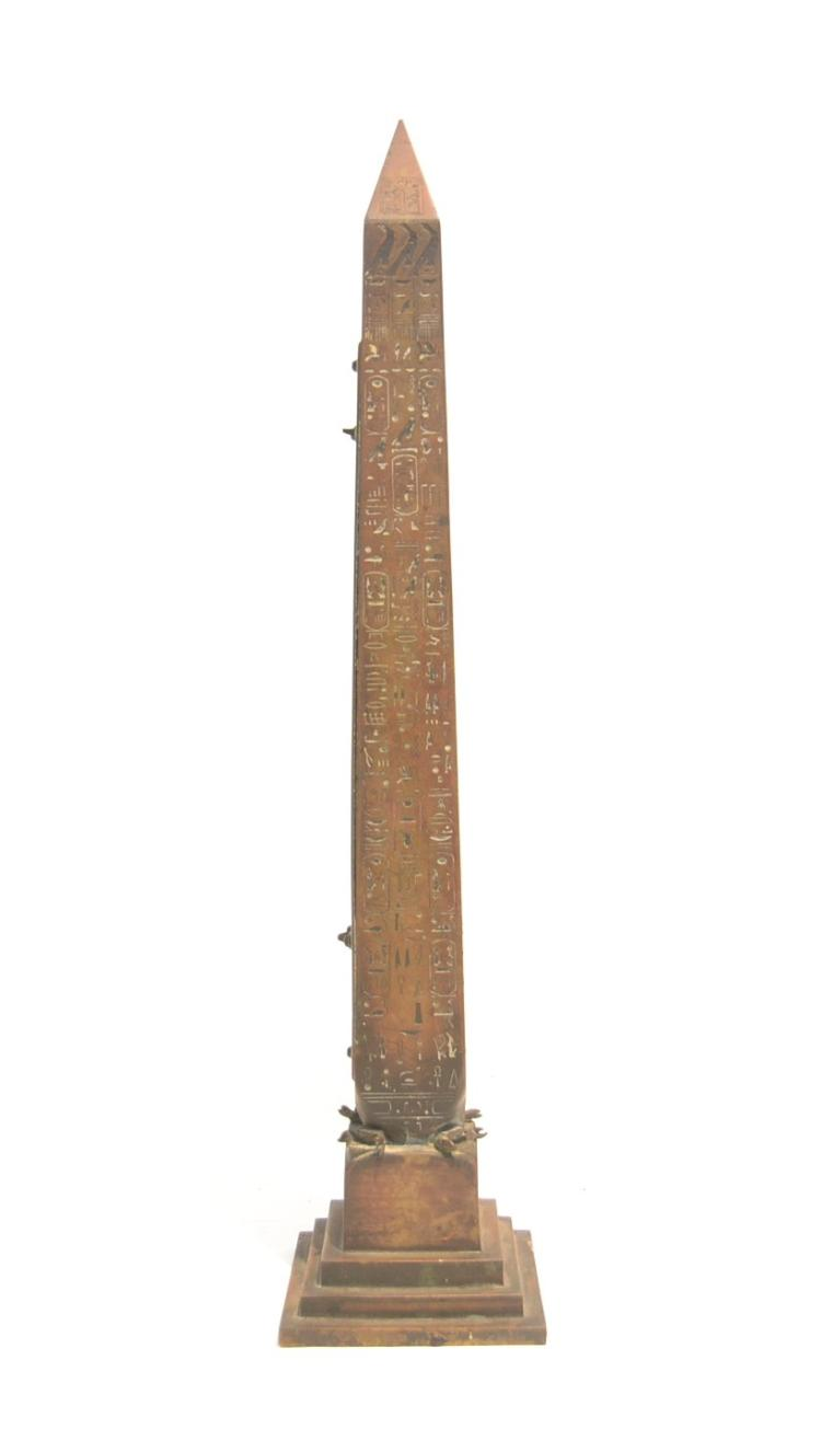 TIFFANY & Co. BRONZE GRAND TOUR OBELISK