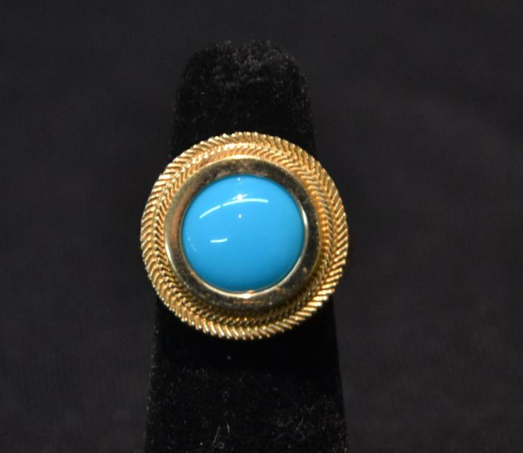 21kt PERSIAN ? TURQUOISE RING