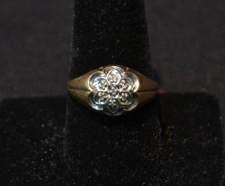 10kt DIAMOND RING - SIZE 10