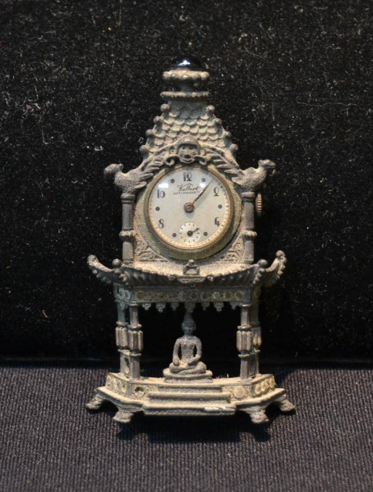 KELVERT ENSHRINED BUDDHA CLOCK BROOCH
