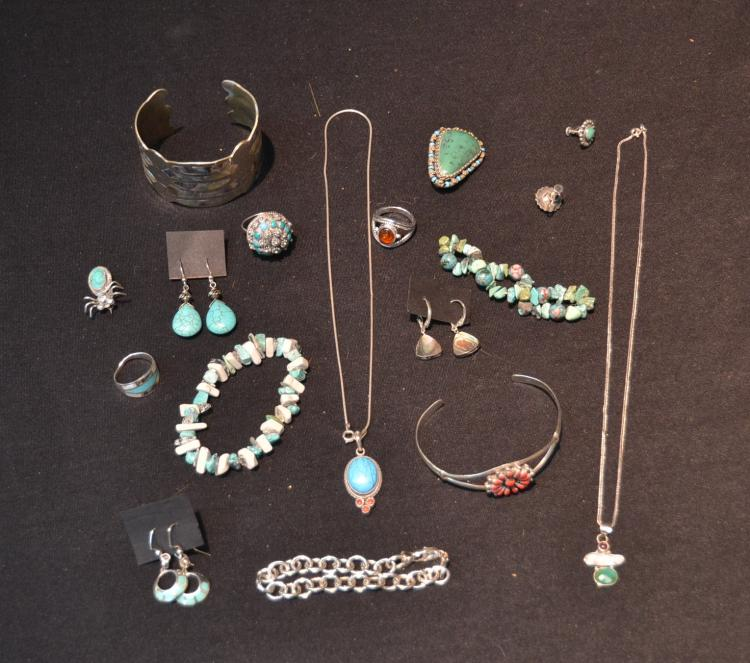 STERLING BRACELETS , PINS & EARRINGS INCLUDING