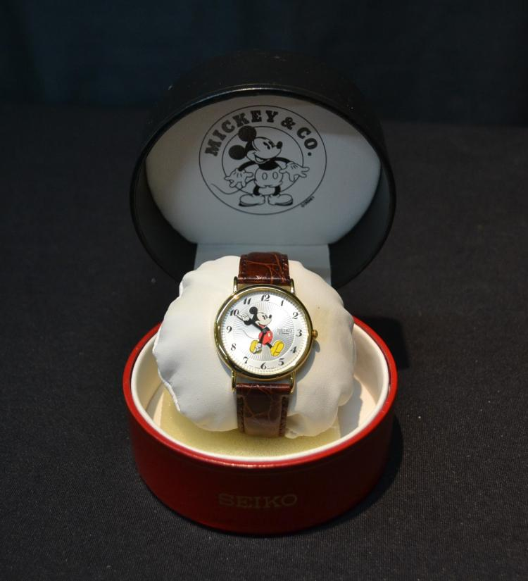 SEIKO MICKEY MOUSE WATCH (NEW IN BOX)