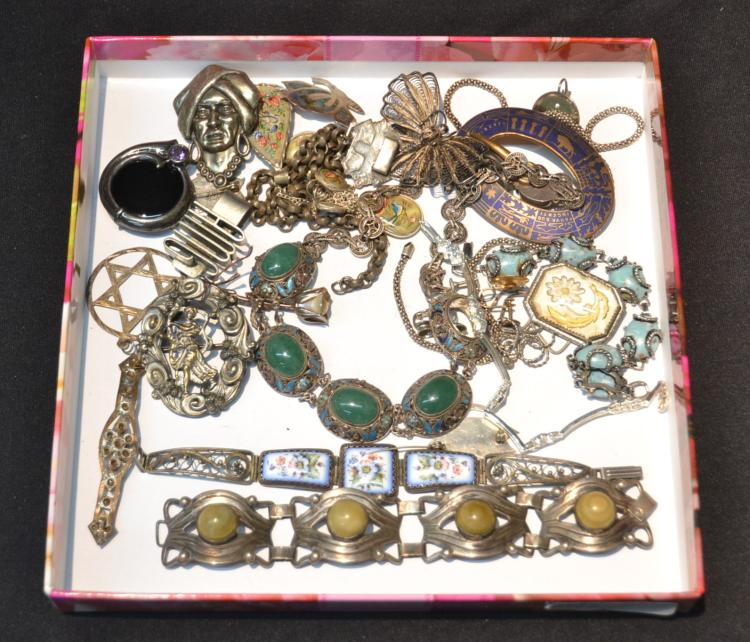 ASSORTED BRACELETS , PINS & NECKLACES