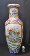PALACE SIZE ORIENTAL STYLE VASE WITH BIRDS - 42