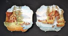 (Pr) B.R & L LIMOGES HAND PAINTED PLATES WITH