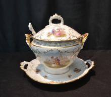 DRESDEN STYLE COVERED SAUCE POT WITH