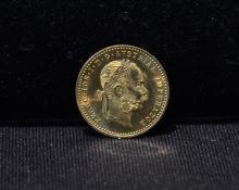 1915 AUSTRIAN DUCAT GOLD COIN - 3.5grams