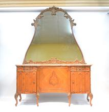 LXV STYLE FRENCH INLAID MARBLE TOP VANITY