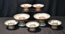 (2) SIZES OF CHINESE PORCELAIN TAZZA'S