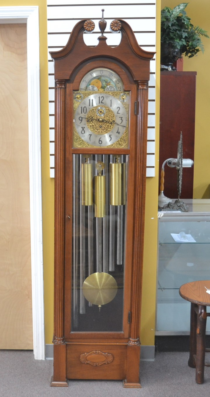Mahogany 9 Tube Herschede Grandfather Clock