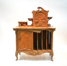EARLY 19thC BIRDS EYE MAPLE FRENCH CABINET WITH
