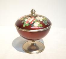 CLOISONNE COVERED DISH - 6