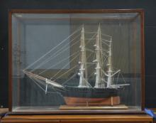 VERY LARGE HAND CRAFTED CLIPPER SHIP MODEL