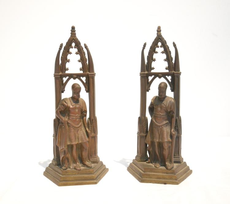 Pr gothic bronze warrior bookends - Gothic bookends ...