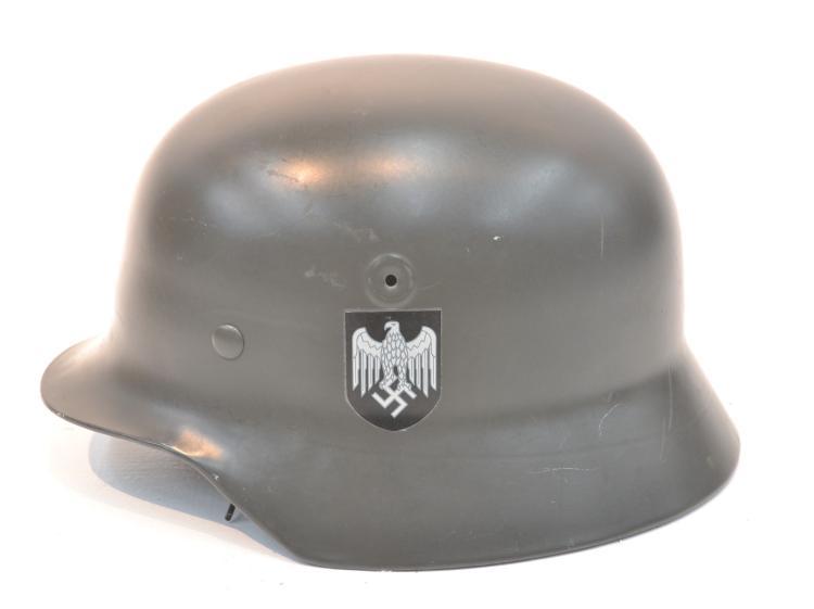 RECONDITIONED GERMAN WWII HELMET