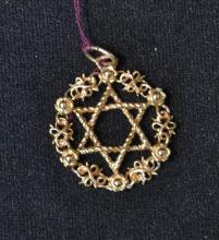 14kt JEWISH STAR PENDANT