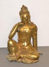 SEATED ORIENTAL BRONZE WOMAN - 23