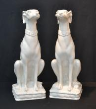 (Pr) CERAMIC SEATED WHIPPETS - 30