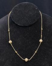 14kt BALL NECKLACE - 16