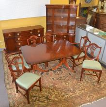 DREXEL MAHOGANY DINING ROOM SUITE CONSISTING OF