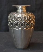 STERLING SILVER REPOUSSE VASE