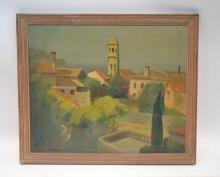 GEORG MERKEL , (1881-1976) OIL ON CANVAS