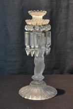 BACCARAT FIGURAL CANDLESTICKS WITH PRISMS
