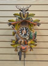 VINTAGE GERMAN CUCKOO CLOCK WITH GAME ,