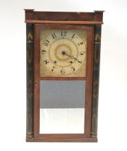 ELI TERRY STENCILED COLUMN MANTLE CLOCK WITH