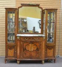 FRENCH FLORAL MARQUETRY BRONZE MOUNTED CABINET